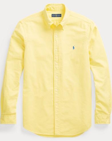 폴로 랄프로렌 Polo Ralph Lauren Classic Fit Oxford Shirt,Empire Yellow