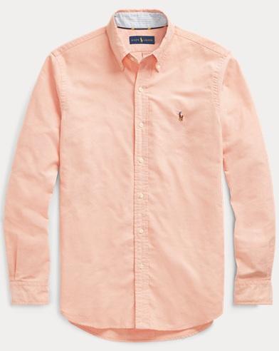 폴로 랄프로렌 Polo Ralph Lauren Classic Fit Oxford Shirt,Peach/White