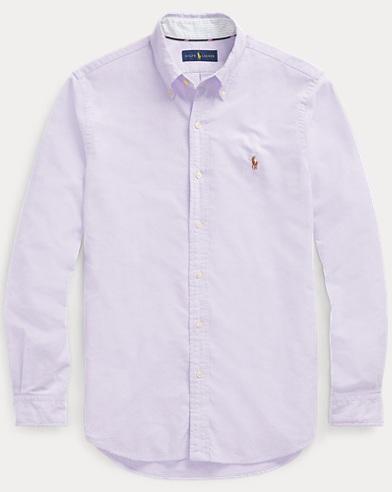 폴로 랄프로렌 Polo Ralph Lauren Classic Fit Oxford Shirt,Grape/White
