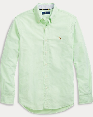 폴로 랄프로렌 Polo Ralph Lauren Classic Fit Oxford Shirt,3076a Lime/White