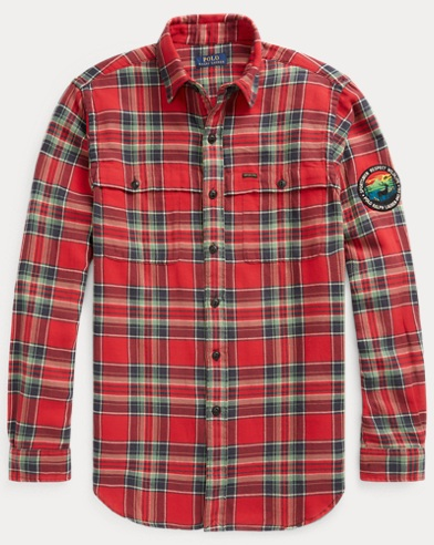 폴로 랄프로렌 Polo Ralph Lauren Classic Fit Plaid Workshirt,Red/Navy