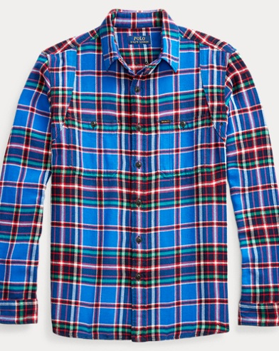 폴로 랄프로렌 Polo Ralph Lauren Classic Fit Plaid Workshirt,Royal/Red