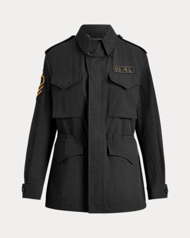 폴로 랄프로렌 걸즈 자켓 Polo Ralph Lauren Milton Army Jacket,Black