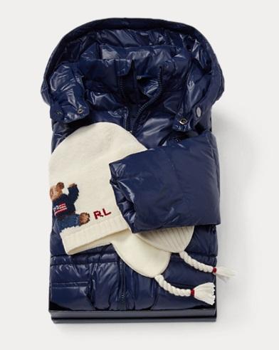 폴로 랄프로렌 Polo Ralph Lauren Coat & Hat 2-Piece Gift Set,Multi