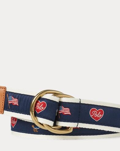 폴로 랄프로렌 걸즈 벨트 Polo Ralph Lauren Polo Bear Belt,Blue Multi