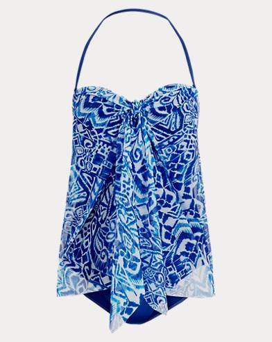 폴로 랄프로렌 Polo Ralph Lauren Convertible Print Swimsuit,Blue