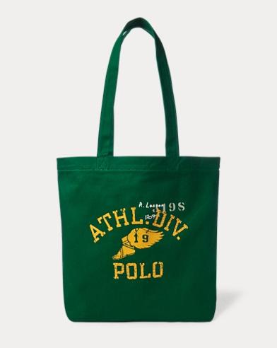 폴로 랄프로렌 Polo Ralph Lauren Athletic Division Cotton Tote,Green