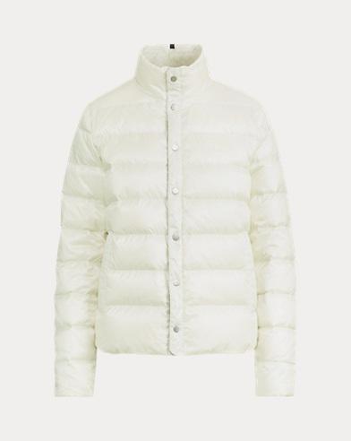 폴로 랄프로렌 750필 파워 방수코팅 숏패딩 크림 Polo Ralph Lauren Water-Repellent Down Jacket,Chic Cream
