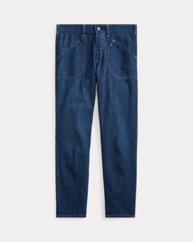 폴로 랄프로렌 Polo Ralph Lauren Workwear Denim Skinny Jean,Dark Indigo