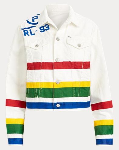폴로 랄프로렌 Polo Ralph Lauren CP-93 Denim Trucker Jacket,Scarf Print