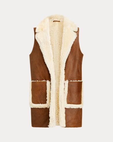 폴로 랄프로렌 리버시블 양면 시어링 조끼 Polo Ralph Lauren Reversible Shearling Vest,Snuff/Spring Beige