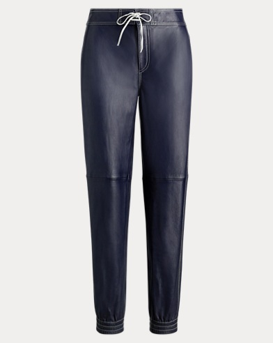 폴로 랄프로렌 Polo Ralph Lauren Leather Jogger Pant,RL Navy
