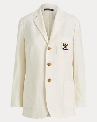 폴로 랄프로렌 Polo Ralph Lauren Wool-Blend Blazer,Warm White