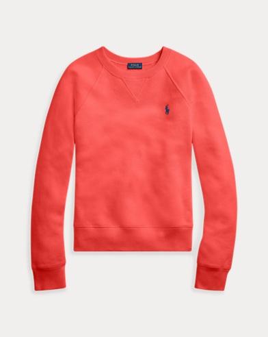 폴로 랄프로렌 우먼 플리스 풀오버 - 레드Polo Ralph Lauren Fleece Pullover,Evening Post Red