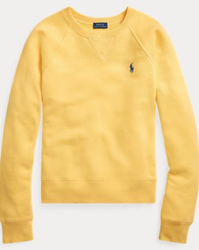폴로 랄프로렌 우먼 플리스 풀오버 - 옐로우 Polo Ralph Lauren Fleece Pullover,Oasis Yellow