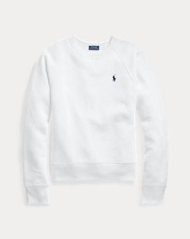 폴로 랄프로렌 우먼 플리스 풀오버 - 화이트 Polo Ralph Lauren Fleece Pullover,White