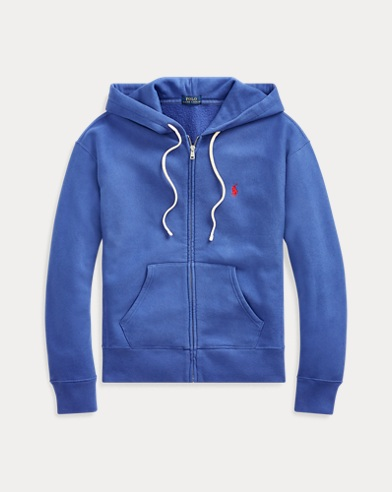 폴로 랄프로렌 우먼 플리스 짚업 후디 - 로얄 네이비 Polo Ralph Lauren Fleece Full-Zip Hoodie,Royal Navy