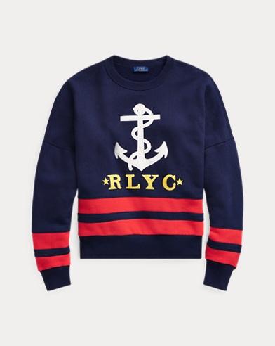 [NEW] 폴로 랄프로렌 우먼 앵커 플리스 풀오버 - 크루즈 네이비 Polo Ralph Lauren Anchor Fleece Pullover,Cruise Navy