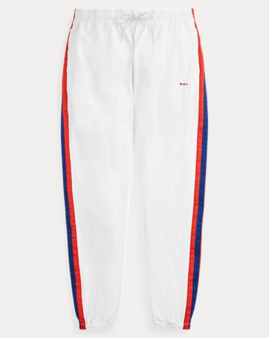 폴로 랄프로렌 Polo Ralph Lauren Striped Jersey Track Pant,Deckwash White