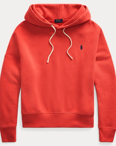 폴로 랄프로렌 우먼 드로우스트링 후드티 - 레드 [MUST-HAVE] Polo Ralph Lauren Fleece Drawcord Hoodie,Evening Post Red