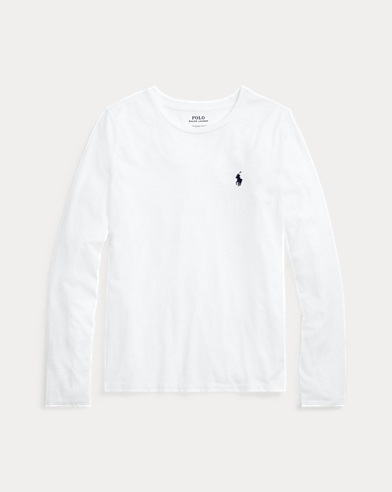 폴로 랄프로렌 Polo Ralph Lauren Cotton Long-Sleeve Shirt,White