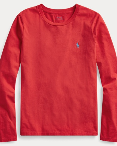 폴로 랄프로렌 Polo Ralph Lauren Cotton Long-Sleeve Shirt,Rl2000 Red