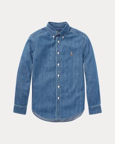 폴로 랄프로렌 보이즈 셔츠 Polo Ralph Lauren Cotton Denim Shirt,Dark Blue