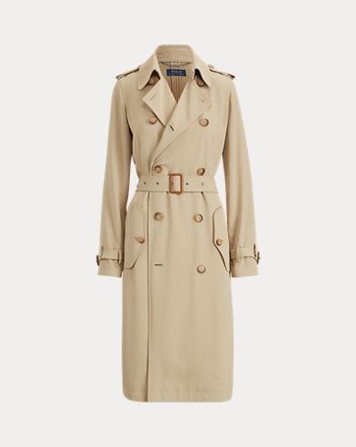 폴로 랄프로렌 트렌치코트 카키 Polo Ralph Lauren Twill Trench Coat,Desert Khaki