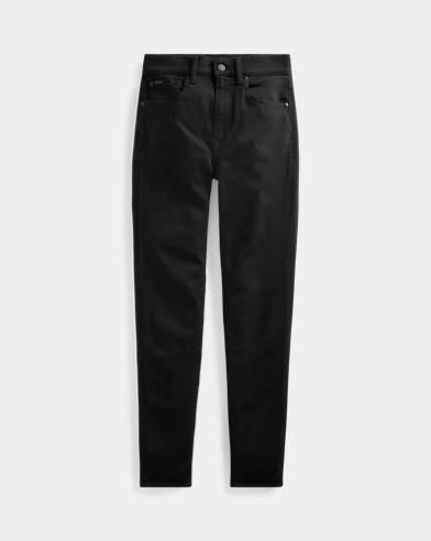 폴로 랄프로렌 Polo Ralph Lauren Tompkins Skinny High-Rise Jean,Black