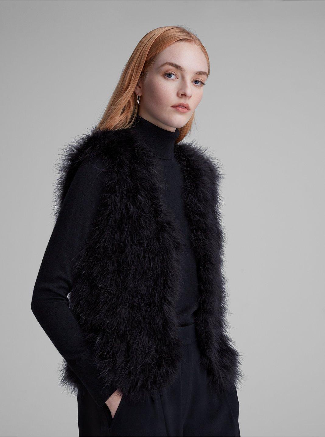 클럽 모나코 Club Monaco Violet Feather Vest,Black