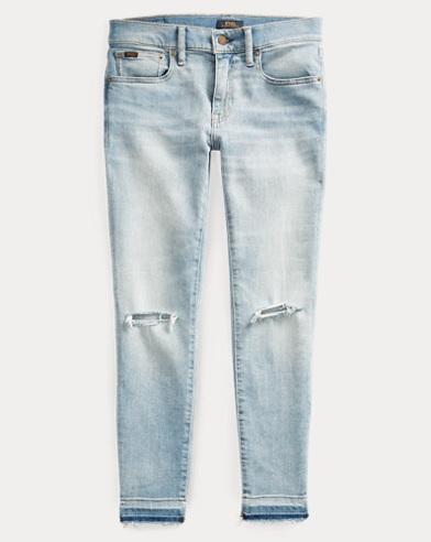 폴로 랄프로렌 Polo Ralph Lauren Tompkins Skinny Crop Jean,Light Indigo