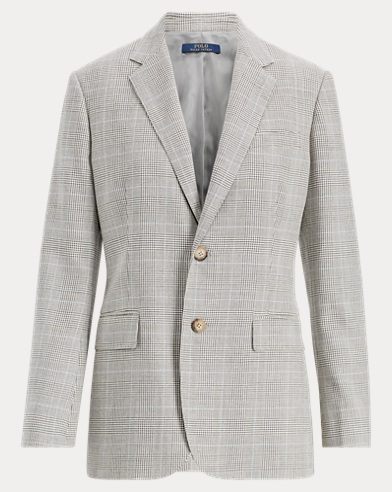 폴로 랄프로렌 Polo Ralph Lauren Glen Plaid Tweed Blazer,Glen Plaid W/ Blue Deco