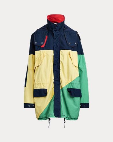 폴로 랄프로렌 Polo Ralph Lauren Color-Blocked Canvas Jacket,Green, Red, Yellow, Navy