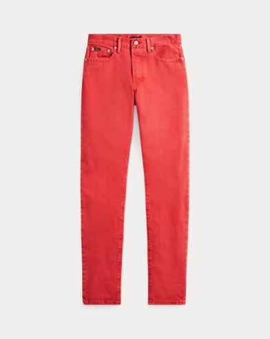 폴로 랄프로렌 Polo Ralph Lauren Callen High-Rise Slim Jean,Red