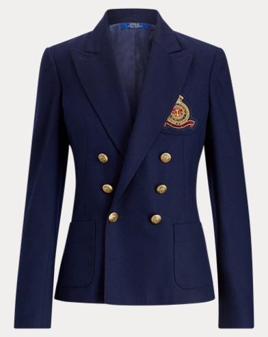 폴로 랄프로렌 Polo Ralph Lauren Crest Wool Blazer,RL Navy