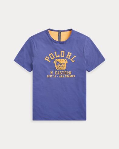 폴로 랄프로렌 Polo Ralph Lauren Custom Slim Fit Reversible Tee,Yale Blue/Athletic Gold
