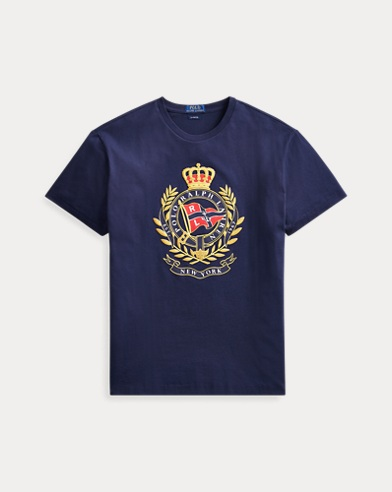 폴로 랄프로렌 Polo Ralph Lauren Classic Fit Cotton Graphic Tee,Cruise Navy