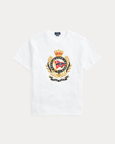 폴로 랄프로렌 Polo Ralph Lauren Classic Fit Cotton Graphic Tee,White
