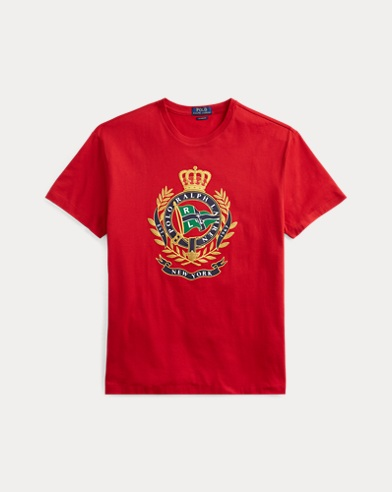 폴로 랄프로렌 Polo Ralph Lauren Classic Fit Cotton Graphic Tee,RL 2000 Red