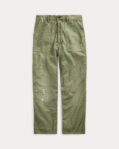 폴로 랄프로렌 Polo Ralph Lauren Relaxed Fit Distressed Pant,Army Olive