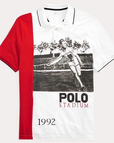 폴로 랄프로렌 Polo Ralph Lauren Javelin Graphic Polo Shirt,Pure White