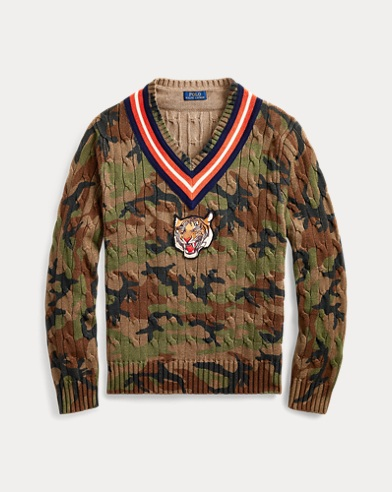 폴로 랄프로렌 Polo Ralph Lauren Camo Cotton Cricket Sweater,Camo Multi