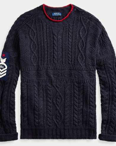 폴로 랄프로렌 Polo Ralph Lauren Knit Cotton-Blend Sweater,Navy