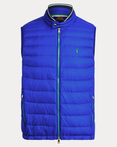 폴로 랄프로렌 Polo Ralph Lauren Packable Quilted Down Vest,Sapphire Star