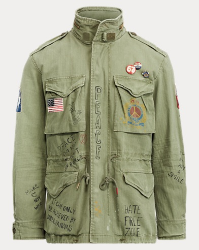 폴로 랄프로렌 맨 아이코닉 필드 자켓, 트윌 그래픽 야상 - 카키 Polo Ralph Lauren Twill Graphic Field Jacket,Army Olive