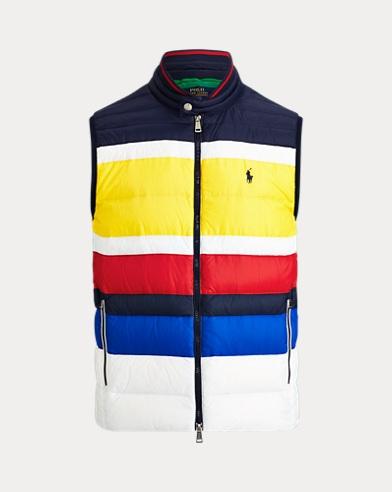 폴로 랄프로렌 Polo Ralph Lauren Striped Packable Down Vest,Multi