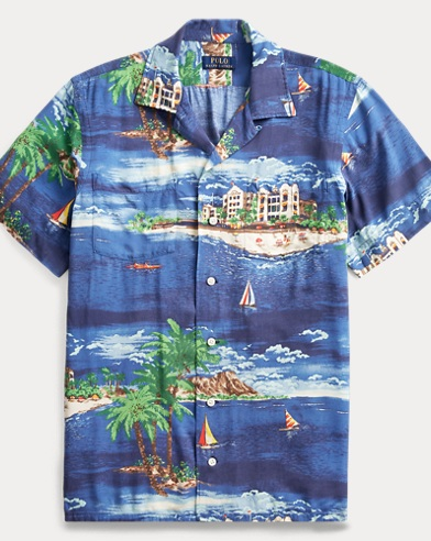 폴로 랄프로렌 Polo Ralph Lauren Classic Fit Tropical Shirt,Havana Oceanside