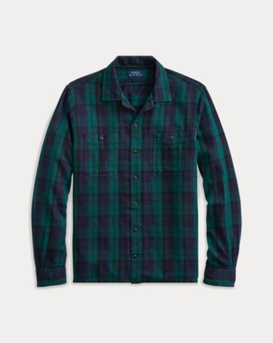 폴로 랄프로렌 Polo Ralph Lauren Classic Fit Tartan Workshirt,헌터 Hunter Green/Navy Multi