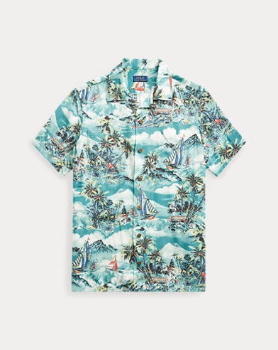 폴로 랄프로렌 Polo Ralph Lauren Classic Fit Tropical Shirt,Stormy Tropical