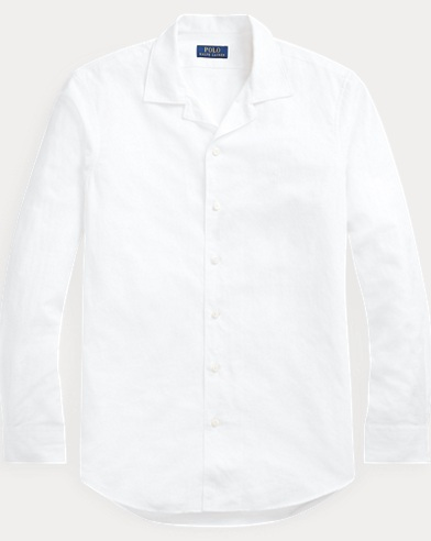 폴로 랄프로렌 Polo Ralph Lauren Classic Fit Cotton-Linen Shirt,Leafage